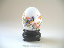 Vintage Avon Unspoken Ultra cologne perfume bottle white glass egg bird flowers