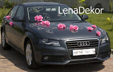 wedding car decoration, RITA D P, ribbon, bows, prom limo  ,mariage, matrimonio