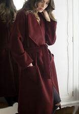 NWT  Anthropologie Fulton Robe Coat by Capulet, Size Small Deep Red