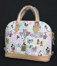 NWT Dooney & Bourke Sketch ZipZip Satchel Disneyana WDW Exclusive. Mickey & Mini