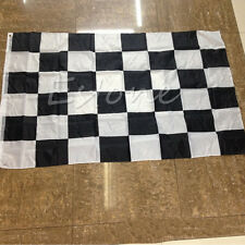 New 90cm x 150cm Large Black White Nascar Flag Checkered Racing Banner