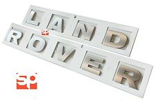 LAND ROVER SILVER BONNET LETTERS LETTERING BADGES DISCOVERY 1 & 2 TDI TD5 35mm