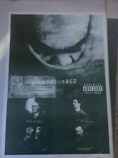 Disturbed The Sickness Album Pop Rock Promo Music Poster Memorabilia