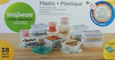 Snapware Total Solution 38 Piece Plastic Food Storage Set New!!
