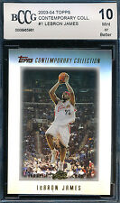 LEBRON JAMES 2003-04 TOPPS CONTEMPORARY ROOKIE CARD BCCG 10 SP #1 BGS!