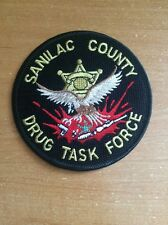 PATCH POLICE SHERIFF SANILAC COUNTY - DRUG TASK FORCE - MICHIGAN