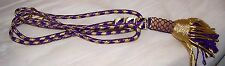 Pectoral Gold Purple Cord Bishop Priest Christian Church Cross Vestment Tassel X