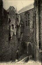 Mont Saint-Michel France CPA ~1910/20 Abbaye La Tour Merveille Partie im Kloster