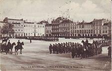 France La Rochelle - La Place in jour de Revue 1908 to London UK mailed postcard