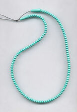"MEXICAN TURQUOISE RONDELLE BEADS - 18"" Strand - 062C"