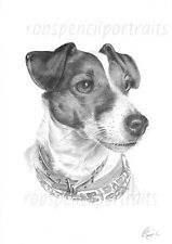 Hand Drawn PET PORTRAIT Bespoke Present Unique Gift For Cat Dog or Any Pet Lover