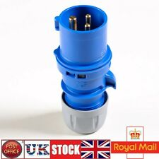 IP44 Caravan Plug Hook Up Lead Adapter Extension 16A Plug 240V Blue 3 Pin
