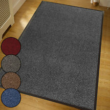 Large GREY Heavy Duty Large Barrier Mats Carpets Rugs Rubber 120x180cm - 4ftx6ft