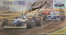 1996c WILLIAMS-RENAULT FW18s & FERRARI F310 F1 Cover signed DAMON HILL