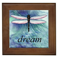 Dragonfly Dream Home Decor Framed Ceramic Wall Tile / Plaque / Wall Art / Entry