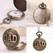 Vintage Retro Bronze Quartz Pocket Watch - Fathers gift.