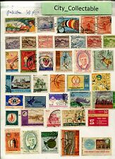 T500 # BULK 38 PCS PAKISTAN USED STAMPS