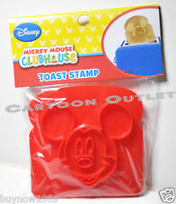 2 X  MICKEY MOUSE TOAST STAMP DISNEY MICKEY'S FACE STAMPER BREAD CLUBHOUSE NEW