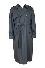 *YVES SAINT LAURENT* GREY COTTON BLEND VINTAGE TRENCH COAT (44)