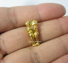 "0.65""H The Thai Couple Man&Lady Amulet Gold Cabinet for Sex and Erotic Charming"