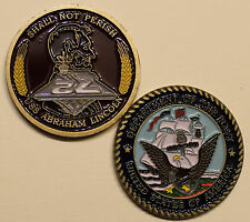 USS Abraham Lincoln CVN72 Aircraft Carrier Insignia Navy Challenge Coin       Ms
