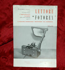 Fotorex Lettore Brevettato a Ingrandimento Variabile 1960