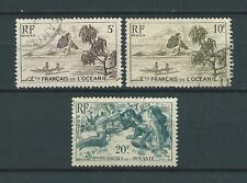 OCÉANIE - 1948 YT 195 197 et 199 - TIMBRES OBL. / USED