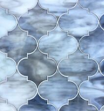 ARABESQUE GREY 11.5X13 GLASS TILE MOSAICS SHOWER WALL BACKSPLASH (SOLD BY SHEET)