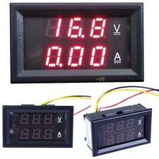 50A Three-wire DC 3.5-30V LCD Monochrome Display Digital Voltmeter Ammeter BF