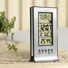 Clock + LCD Digital Day Humidity Temperature Indoor Meter Thermo-hygrometer