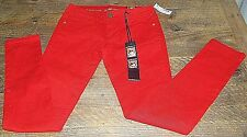 Dollhouse Crazy Sexy Cool Chili Red Stretch Skinny Jeans Size 3 Juniors NEW
