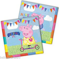 16 Peppa Pig Summer Fun Children's Birthday Party 33cm Paper Luncheon Napkins