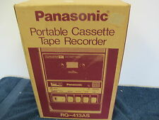 PANASONIC PORTABLE CASSETTE TAPE RECORDER PLAYER RQ-413AS IN BOX MID CENTURY
