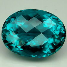 Delightful!!! 23.5ct. Paraiba ~Blue Green Apatite Oval&Checkerboard Table