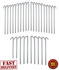 30 Metal Galvanized Steel Tent Pegs Garden Stakes Fence Tarp Camping Heavy Duty