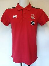 ENGLAND RUGBY RED BMW TRAINING  POLO SHIRT BY CANTERBURY SIZE ADULTS EXTRA SMALL