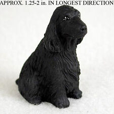 English Cocker Spaniel Mini Resin Dog Figurine Statue Hand Painted Statue Black