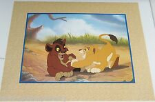 Disney Store Simba Pride Lithograph Gold Seal Lion King Picture
