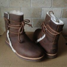 UGG Luisa Water-resistant Leather Mini Boots US 10 Womens 1012545