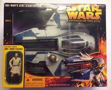RARO marcisce Star Wars Obi-Wan Jedi Starfighter SPEDIZIONE-in Scatola Sigillato con la figura