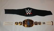 SHAWN MICHAELS SIGNED WWE WWF ADULT WHITE INTERCONTINENTAL TITLE BELT PROOF