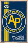 GREEN BAY PACKERS - RETRO LOGO POSTER - 22x34 NFL FOOTBALL 13174