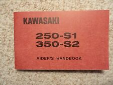 1972 Kawasaki 250 S1 Mach I Rider's Handbook Owner's Manual Owners Shop Parts