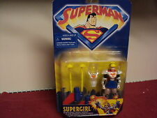 """Kenner 4.5"""" Superman Super girl  with accessories new in package 1998 production"""