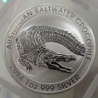 "1oz 2014 Australian ""Saltwater Crocodile"".999 Fine Silver Coin 