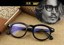 Vintage Retro Women Men eyeglass Frames PC Glasses  Eyewear Clear lenses Black