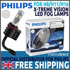 Philips X-treme Vision LED Fog Lamp x2 - For Replacement Of H8/H11/H16 Halogens
