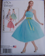 1950's Vintage ballet  Prom Party Bridesmaid Bridal short DRESS pattern 14-22