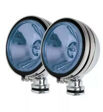 "2 x ANGEL EYE 6"" BLUE CAR CHROME SPOT LIGHTS PAIR CAR VAN BOAT TRUCK CARAVAN"