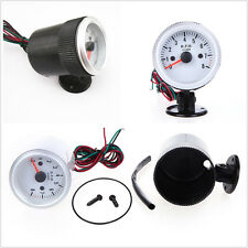 Universal 2-52mm Car Auto Tachometer Tach Gauge With Holder Cup Blue LED Light
